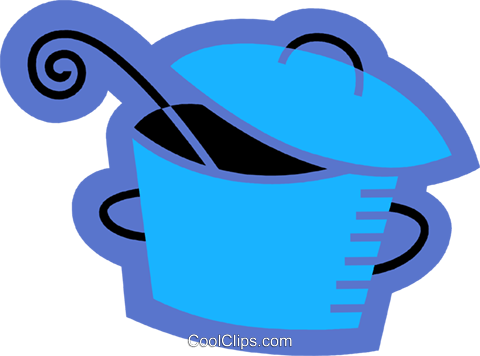 Pots and Pans Royalty Free Vector Clip Art illustration vc078539
