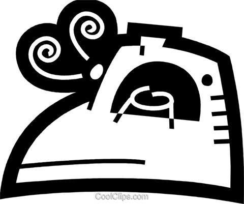 Irons Ironing Royalty Free Vector Clip Art illustration vc078549