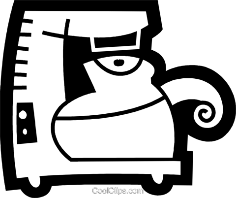 Coffee Pots and Coffee Makers Royalty Free Vector Clip Art illustration vc078561