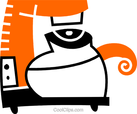 Coffee Pots and Coffee Makers Royalty Free Vector Clip Art illustration vc078562