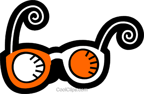 Glasses and Eyeglasses Royalty Free Vector Clip Art illustration vc078582