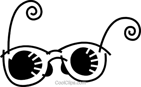 Glasses and Eyeglasses Royalty Free Vector Clip Art illustration vc078584
