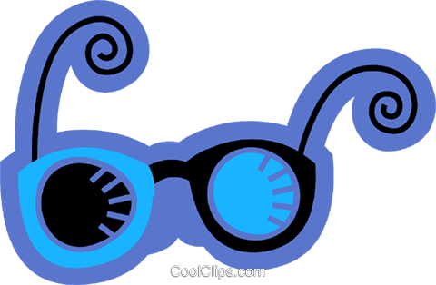 Glasses and Eyeglasses Royalty Free Vector Clip Art illustration vc078587