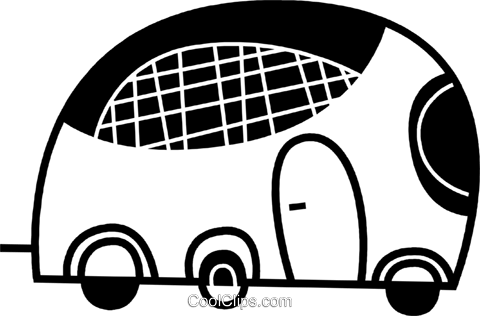 Tour Buses Royalty Free Vector Clip Art illustration vc078607