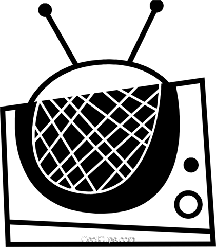Televisions Royalty Free Vector Clip Art illustration vc078611