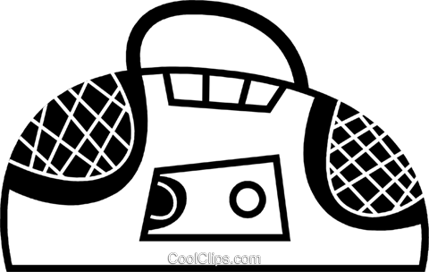 Portable Cassette Players Royalty Free Vector Clip Art illustration vc078627