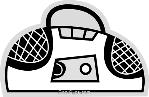 Portable Cassette Players Royalty Free Vector Clip Art illustration vc078628