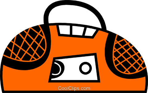 Portable Cassette Players Royalty Free Vector Clip Art illustration vc078629