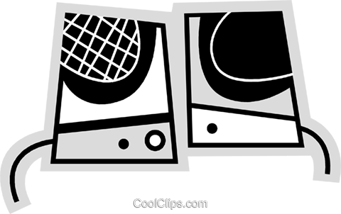 Speakers Royalty Free Vector Clip Art illustration vc078636