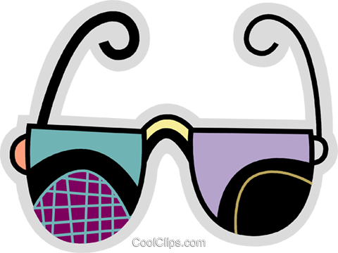 Glasses and Eyeglasses Royalty Free Vector Clip Art illustration vc078674
