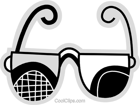 Glasses and Eyeglasses Royalty Free Vector Clip Art illustration vc078676