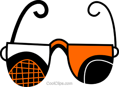 Glasses and Eyeglasses Royalty Free Vector Clip Art illustration vc078677
