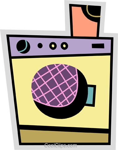 Washing Machines Royalty Free Vector Clip Art illustration vc078686