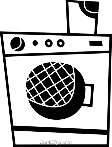 Washing Machines Royalty Free Vector Clip Art illustration vc078687