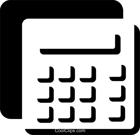 Calculators Royalty Free Vector Clip Art illustration vc078722