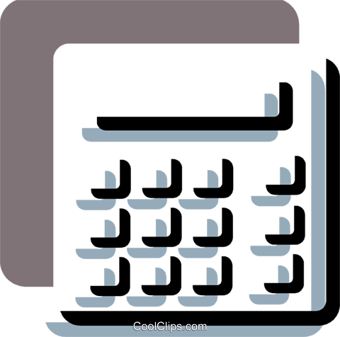 Calculators Royalty Free Vector Clip Art illustration vc078725