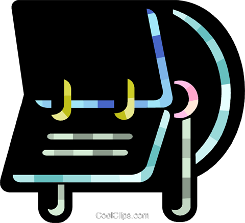 Rolodex Royalty Free Vector Clip Art illustration vc078766