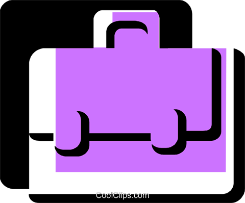 Briefcases Royalty Free Vector Clip Art illustration vc078786