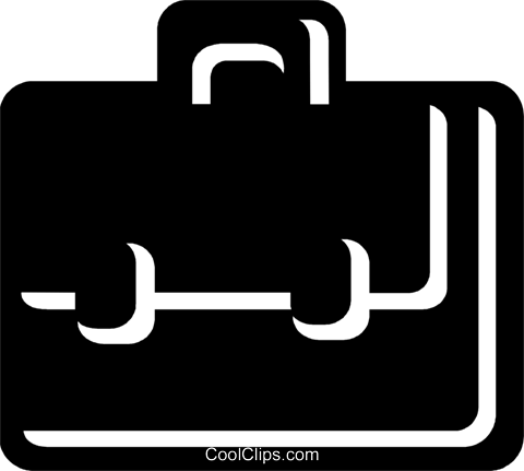Briefcases Royalty Free Vector Clip Art illustration vc078789