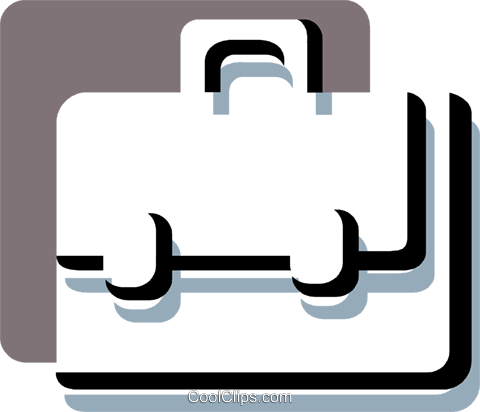 Briefcases Royalty Free Vector Clip Art illustration vc078791