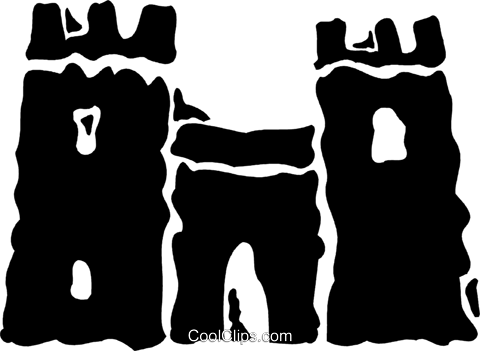 Castles Royalty Free Vector Clip Art illustration vc078835