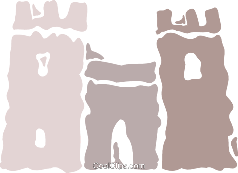 Castles Royalty Free Vector Clip Art illustration vc078837