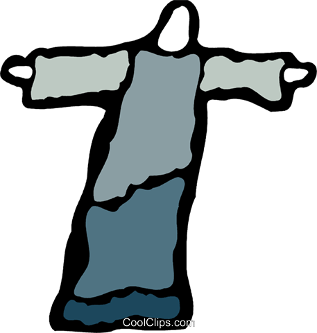 Jesus Royalty Free Vector Clip Art illustration vc078838