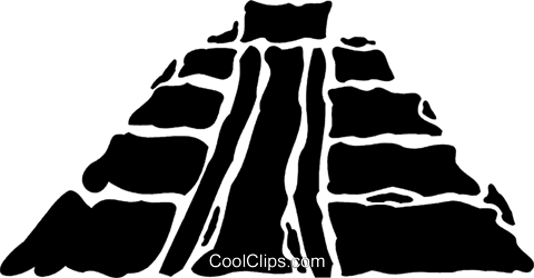 Incan Pyramids Royalty Free Vector Clip Art illustration vc078891