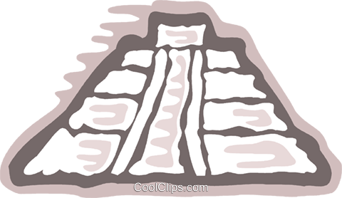 Incan Pyramids Royalty Free Vector Clip Art illustration vc078892