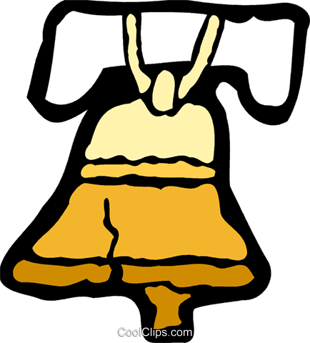 Liberty Bell Royalty Free Vector Clip Art illustration vc078922