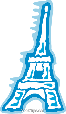 Eiffel Tower Royalty Free Vector Clip Art illustration vc078928
