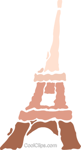 Eiffel Tower Royalty Free Vector Clip Art illustration vc078929