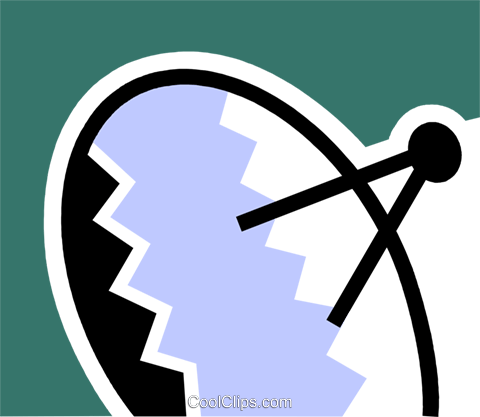 Satellite Dish Royalty Free Vector Clip Art illustration vc078955