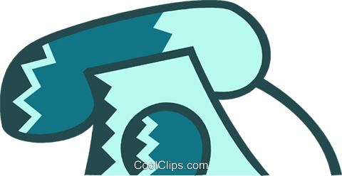 Home Phones Royalty Free Vector Clip Art illustration vc078979