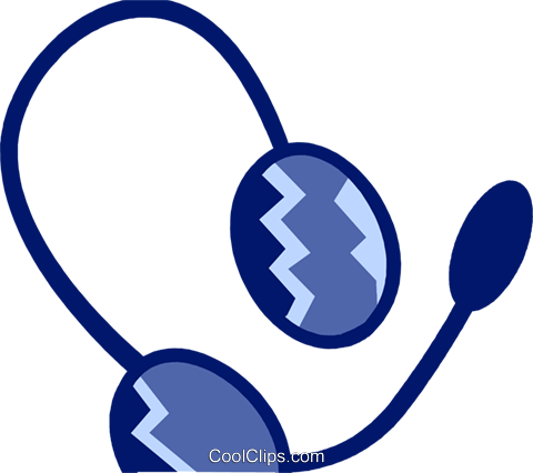Headsets Royalty Free Vector Clip Art illustration vc078984