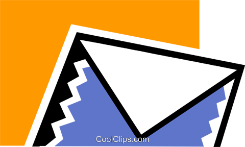 Envelopes Royalty Free Vector Clip Art illustration vc078990