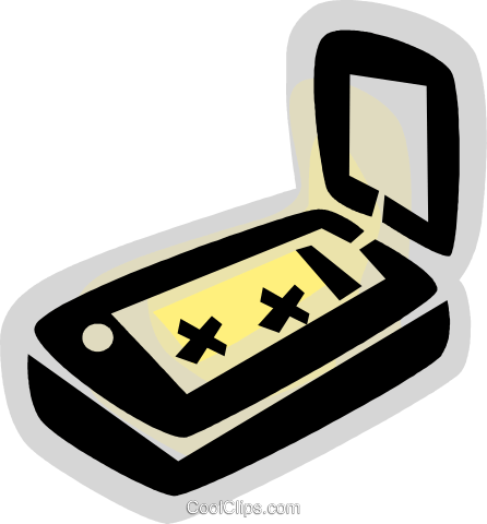 Flatbed Scanners Royalty Free Vector Clip Art illustration vc079113