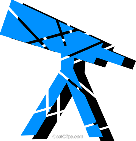 Telescopes Royalty Free Vector Clip Art illustration vc079158