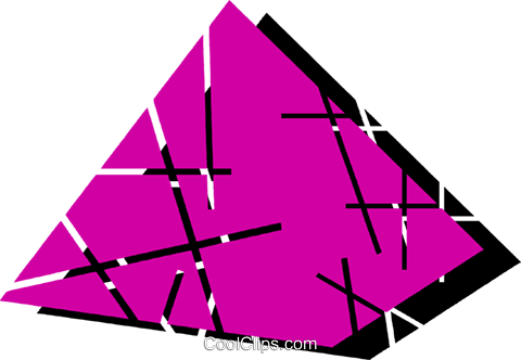 Pyramids Royalty Free Vector Clip Art illustration vc079174