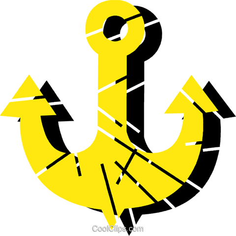 Anchors Royalty Free Vector Clip Art illustration vc079226