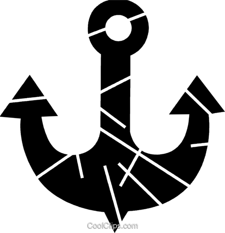 Anchors Royalty Free Vector Clip Art illustration vc079227