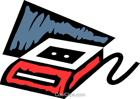 Cassette Tapes Royalty Free Vector Clip Art illustration vc079326