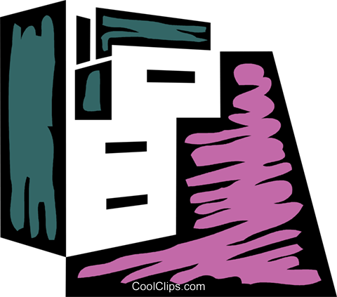 Filing Cabinets Royalty Free Vector Clip Art illustration vc079341
