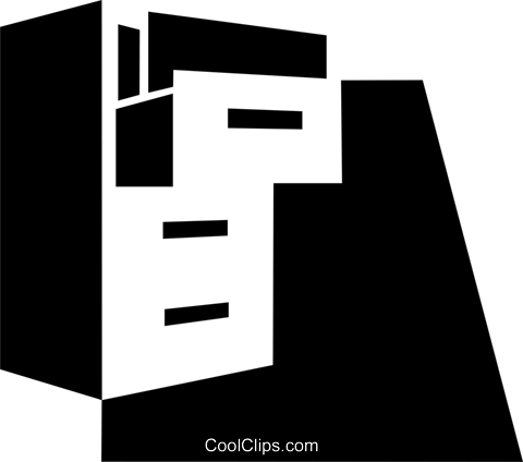 Filing Cabinets Royalty Free Vector Clip Art illustration vc079342