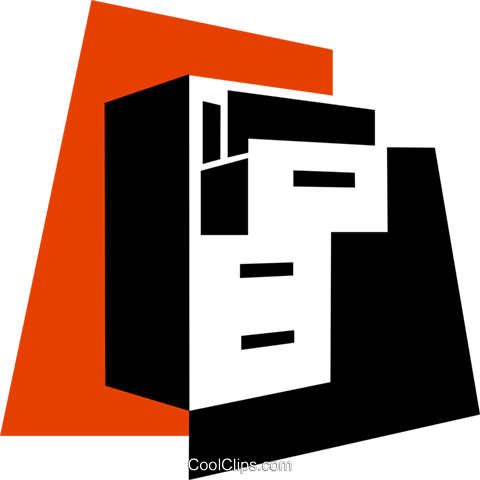 Filing Cabinets Royalty Free Vector Clip Art illustration vc079343