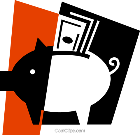 Piggy Banks Royalty Free Vector Clip Art illustration vc079361
