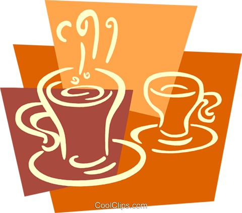 Cups of Coffee Royalty Free Vector Clip Art illustration vc079383