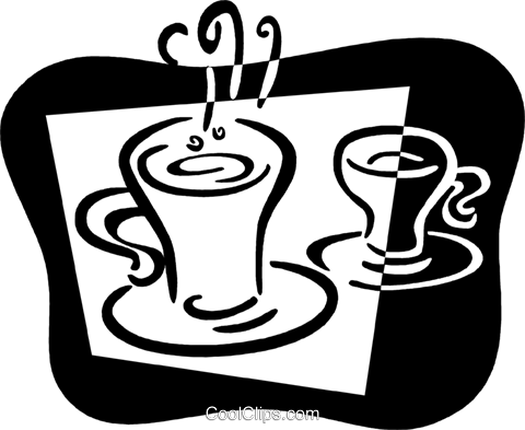 Cups of Coffee Royalty Free Vector Clip Art illustration vc079384
