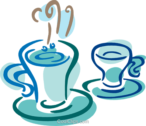Cups of Coffee Royalty Free Vector Clip Art illustration vc079385