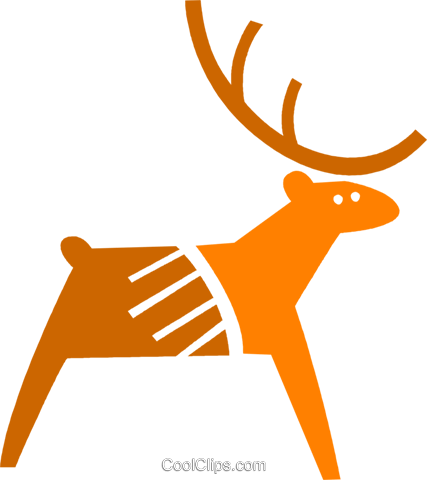 Reindeer Royalty Free Vector Clip Art illustration vc079446